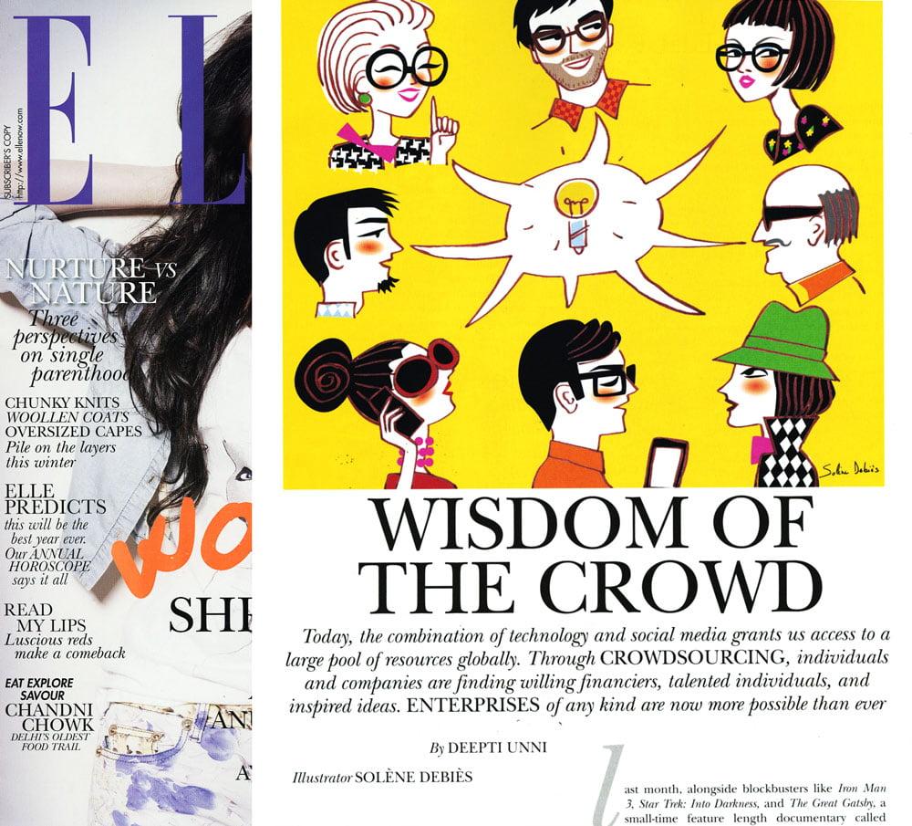 Elle Horoscopes Press And Magazine Illustrator Solene Debies