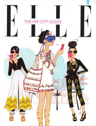 elle magazine fashion illustrator
