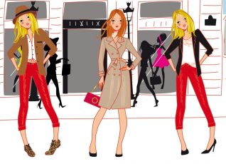 fashion women illustrator stylist