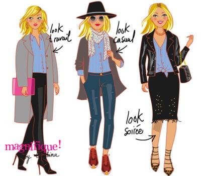 Woman style fashion
