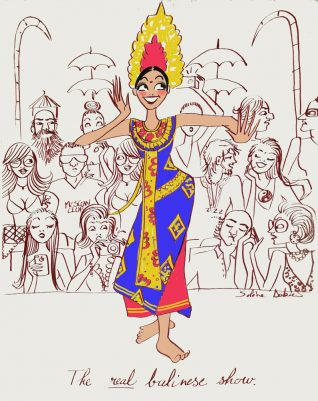editorial illustrator dance show