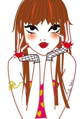 graphic illustrator editorial magazine beauty