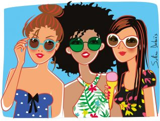 women illustrator graphic