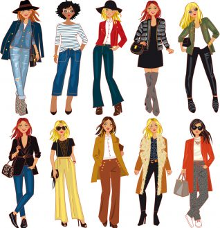 fashion vector cartoonist