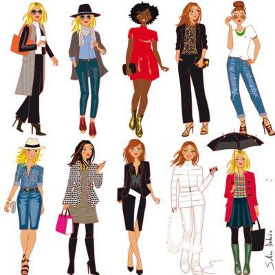 fashion board women illustrator