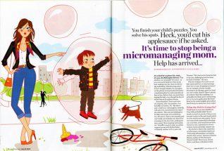 editorial illustrator mother children