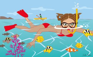 editorial illustrator sea graphic