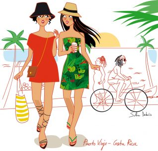travel illustrator glamour girls