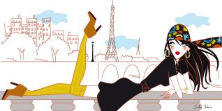 french woman illustrator graphic urban