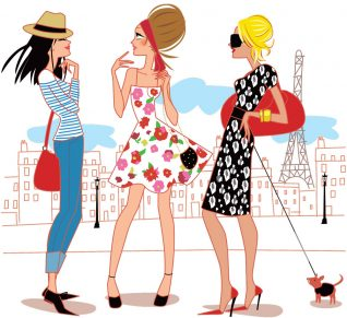 dessin femmes parisiennes