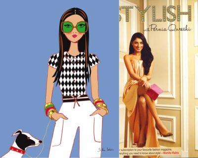 illustration pour le livre de la styliste indienne Pernia Qureshi