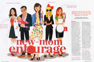 illustrateur femme mère