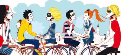 Illustration - les vacances en vélo sur l'Ile de ré.