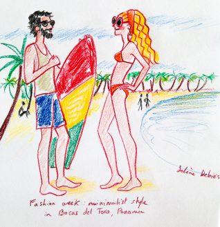 dessin humour plage surf