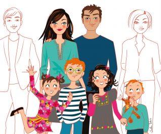 dessin famille presse