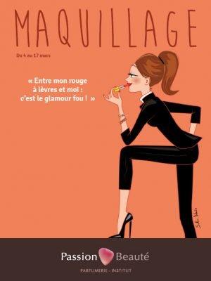 affiche publicitaire cosmétique femme
