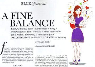illustration magazine ELLE TRAVAIL