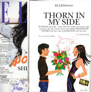 dessin presse humour pour Elle magazine
