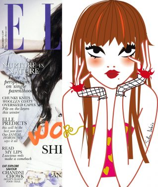 illustrateur propose un horoscope pour le magazine Elle