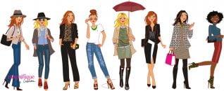 illustration personnages de mode
