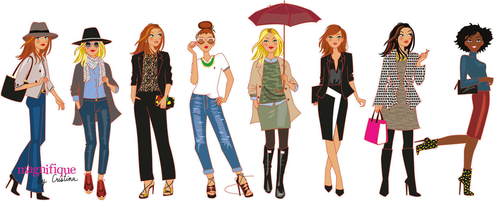 Dessins  Copines Fashion Mode