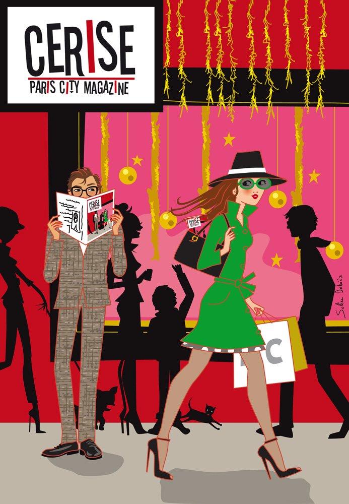 Illustration magazine parisien Cerise