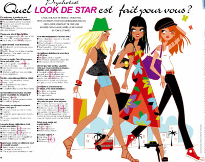women walking french magazine