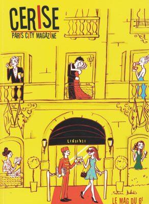 illustration pour la magazine parisien Cerise. La vie et l'amour dans un hôtel Palace parisien