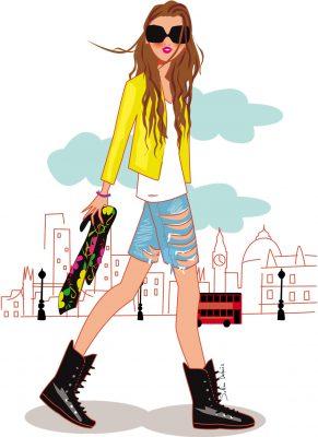 Illustration créée pour la blogueuse de mode Serendipity