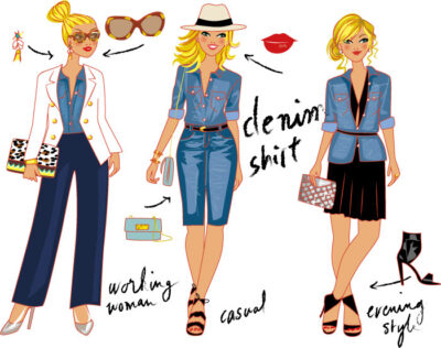 planche personnage mode femmes