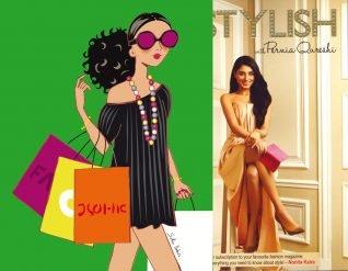 illustrateur shopping