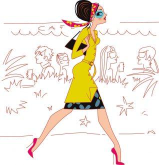 Illustration magazine Elle India horoscope