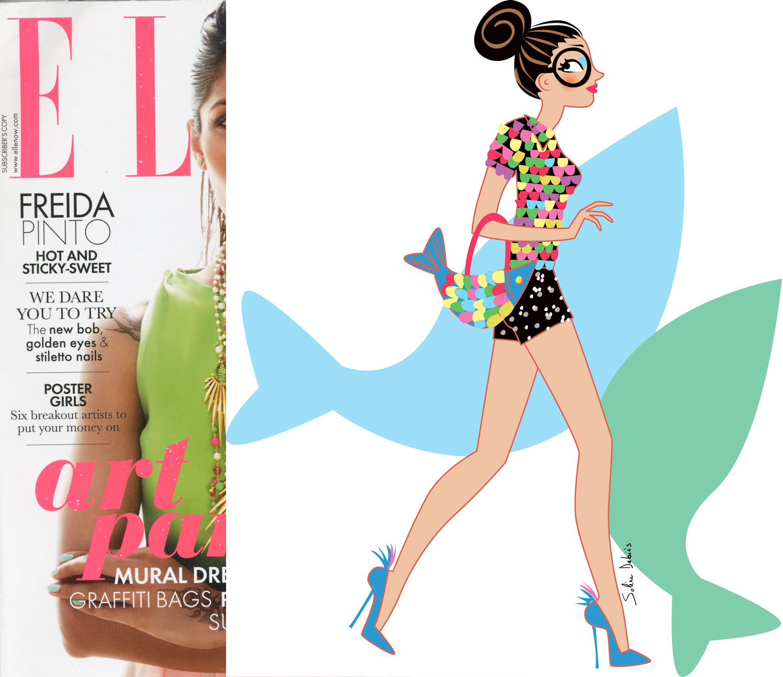 illustratrice ELLE magazine horoscope