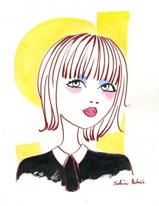 illustrateur : un visage de femme