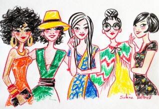 illustration for the women's day
