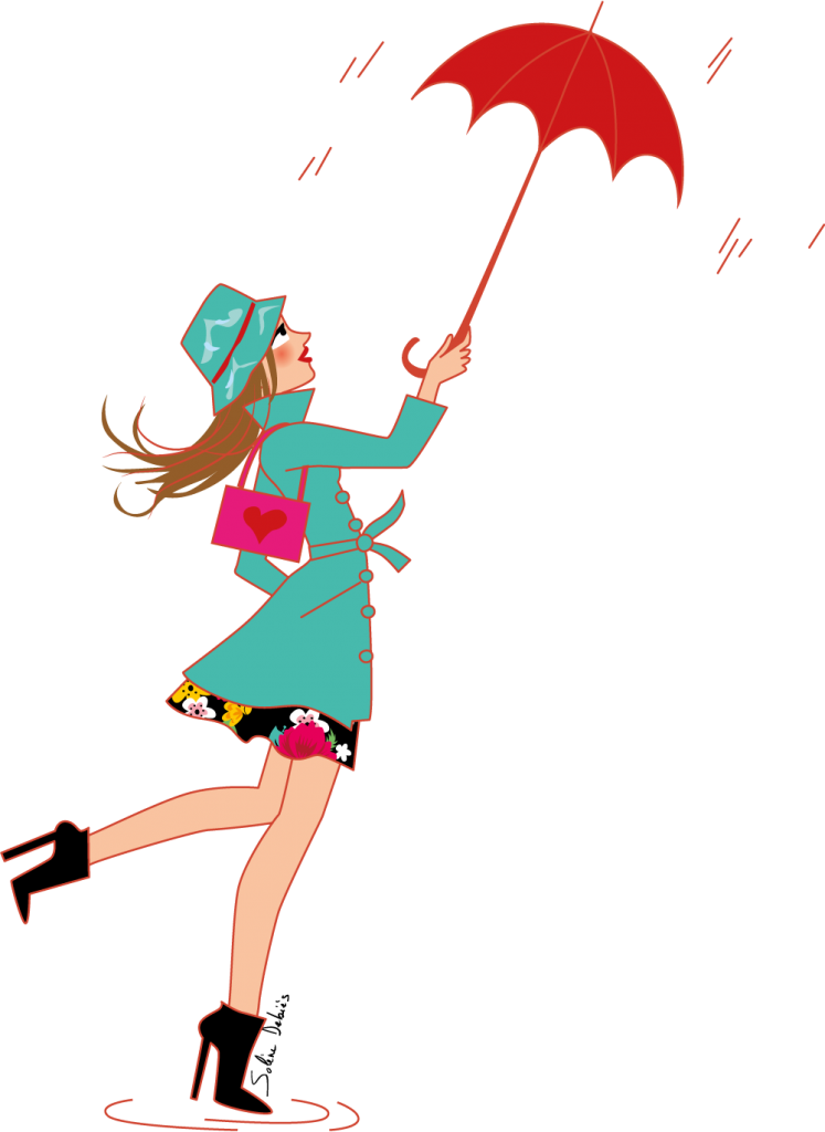 illustratrice pour l'horoscope de Biba magazine - Verseau