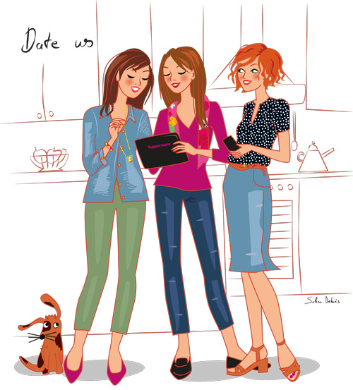 Women illustration. Commercial illustration for Tupperware