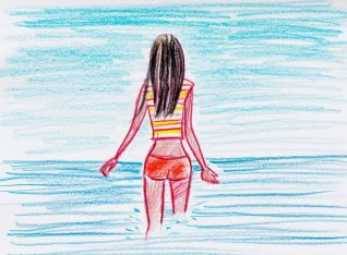 woman sea artist illustrator