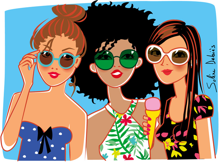 girly illustrator art work