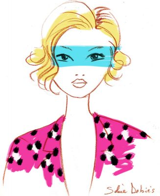 a beauty make-up illustration: a woman face