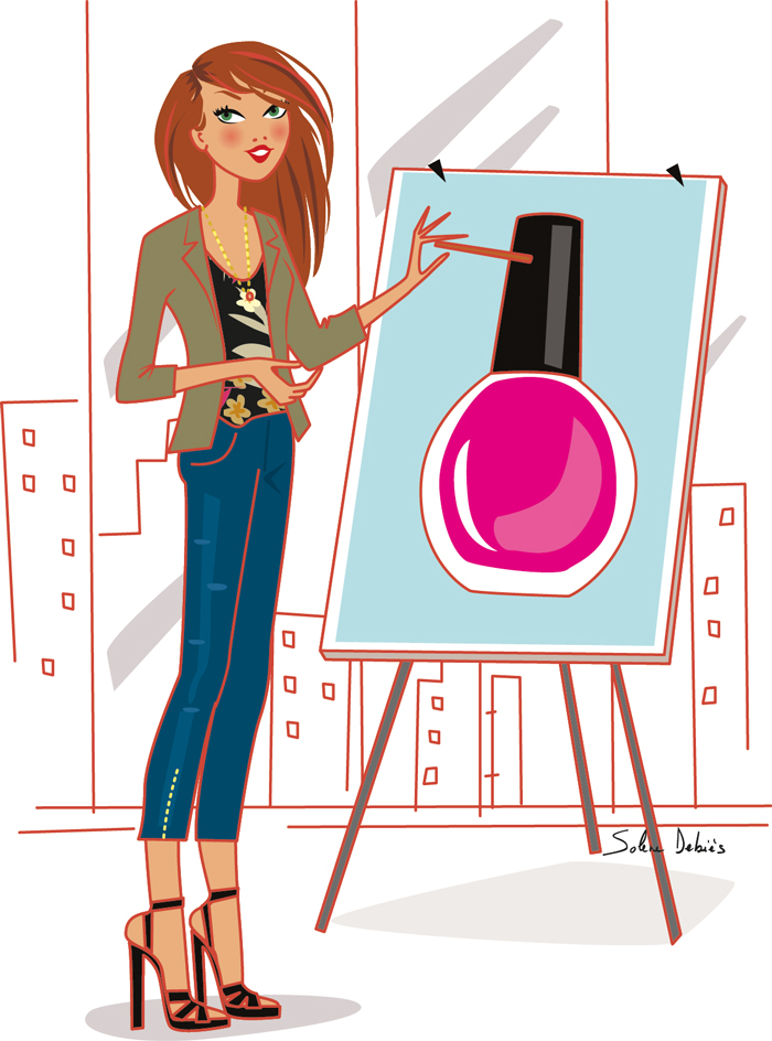 explanatory illustration for a beauty brand
