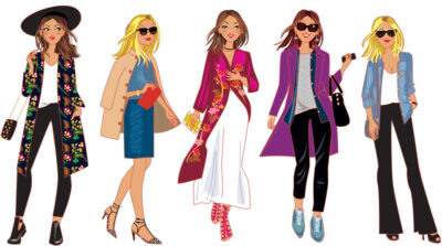 dessin personnages femmes mode