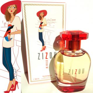 illustrateur femme parfum boîte
