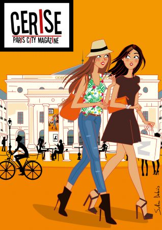 illustration parisiennes couverture magazine