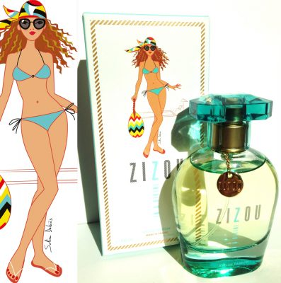 illustration femme parfum