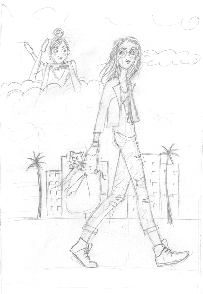 Crayonné illustration du livre