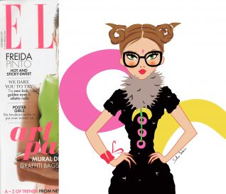 illustrator fashion magazine ELLE