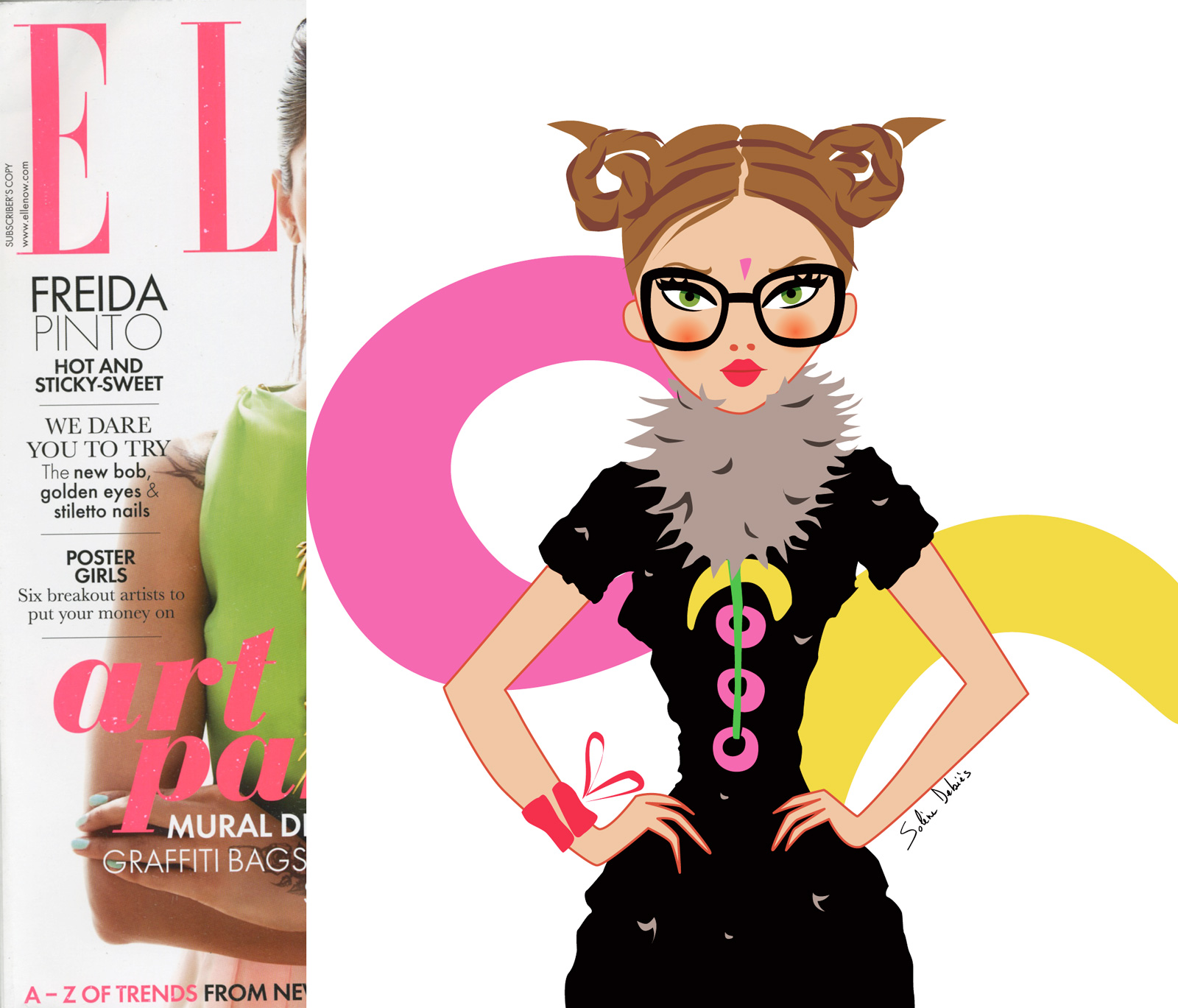 illustration ELLE magazine horoscope