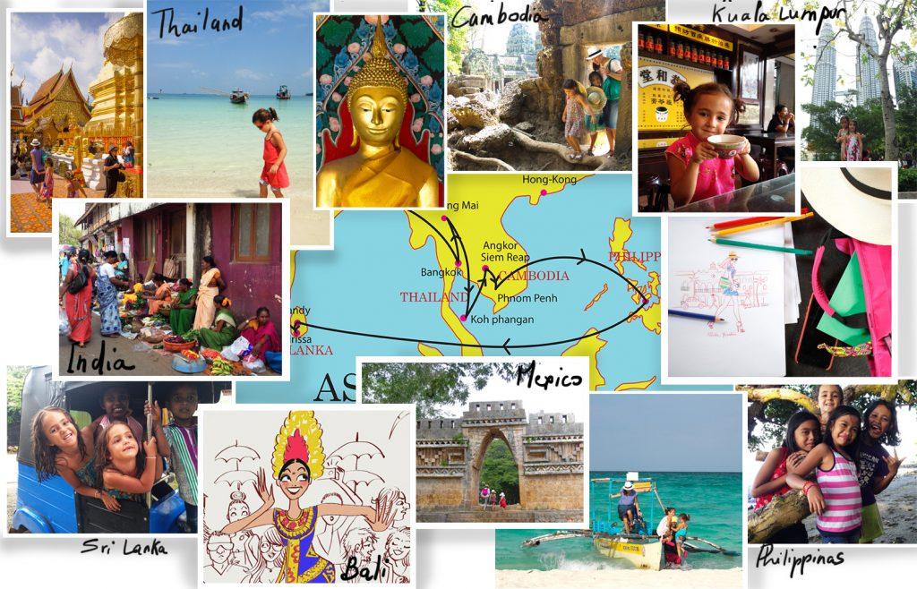 illustratrice globetrotteuse : les cartes de voyage
