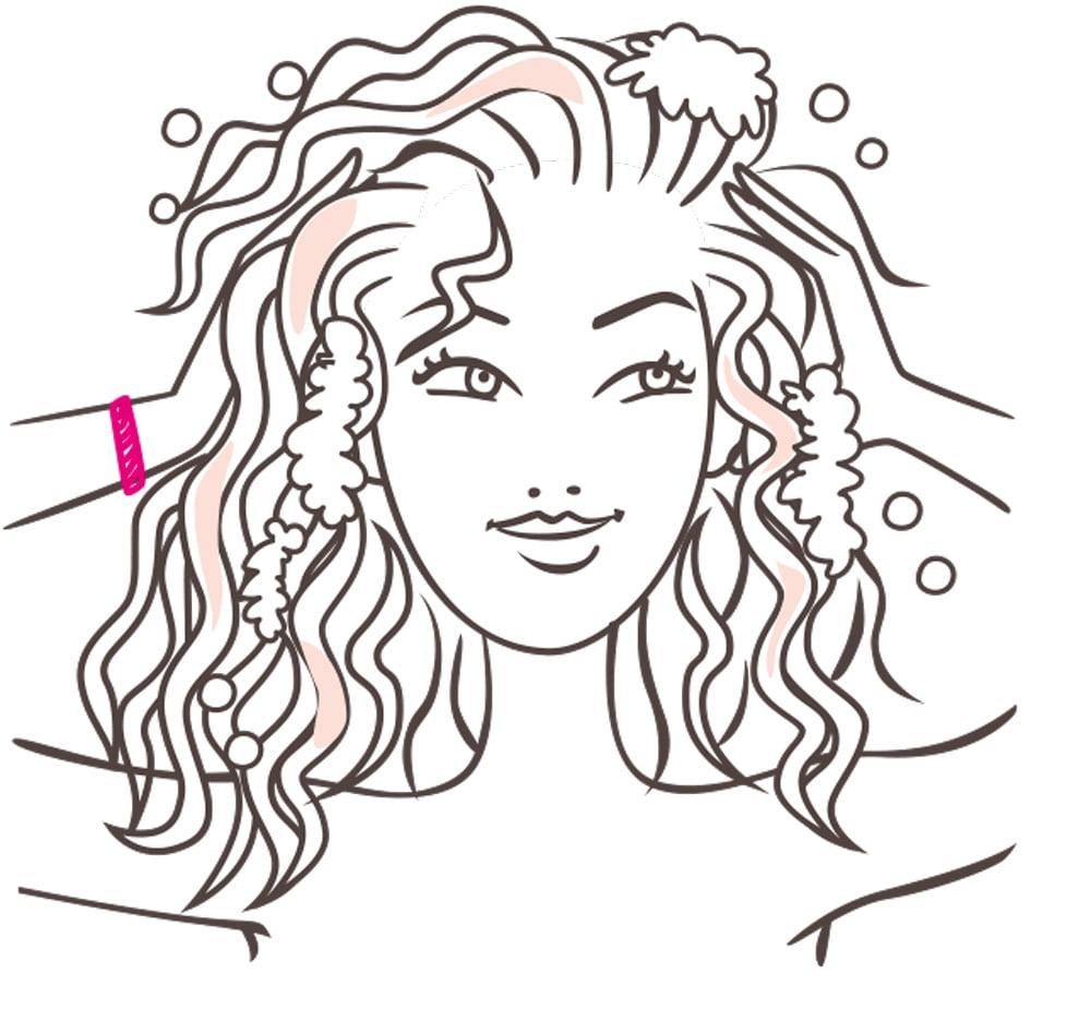 Illustrateur beauté femme naturelle Garnier l'Oréal